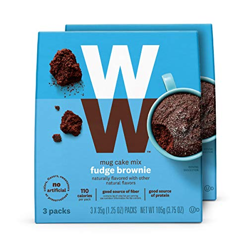 Price comparison product image WW Fudge Brownie Mug Cake - High Protein,  3 SmartPoints - 2 Boxes (6 Count Total) - Weight Watchers Reimagined