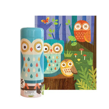 Owl Family Puzzle and Coin Bank (Petit Collage Owl)