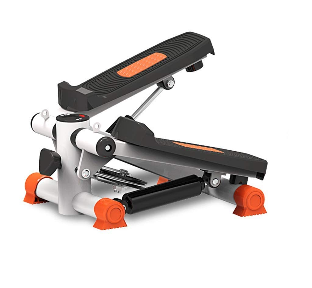 ZYY Steppers,Aerobic Fitness Exercise Machine Home Mute Stepper, Hydraulic Mute Stepper Aerobic Torque with Adjustable Resistance Band (Color : Orange)