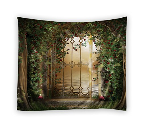 Dodou 3D digital printin Tapestry Garden Theme tapestry Light-weight Polyester Fabric Wall Decor (51