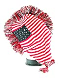 Q Collection Mohawk Knit Winter Trapper Beanie ( USA Flag )