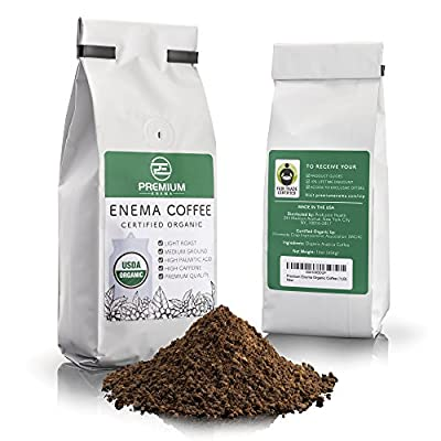 Premium Enema™ Organic Enema Coffee - Light Roast, Medium Ground - Perfect For Gerson Coffee Enemas - Fair Trade Certified - Made in the USA