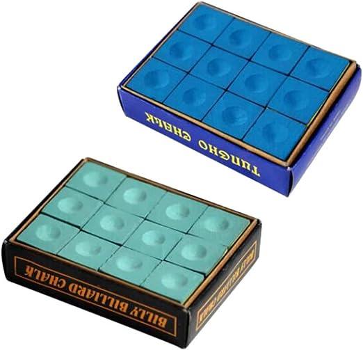 LIOOBO Accesorios de Billar portátiles de Tiza de Tiza de Pool de 2 Cubos Suministros (Azul y Verde): Amazon.es: Hogar