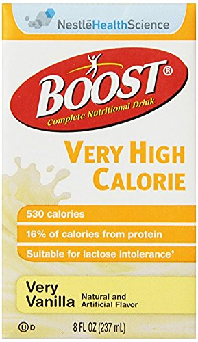 Boost VHC Very High Calorie Complete Nutritional Drink, Very Vanilla, 8 fl oz Box, 27 Pack (Breeze Bar)