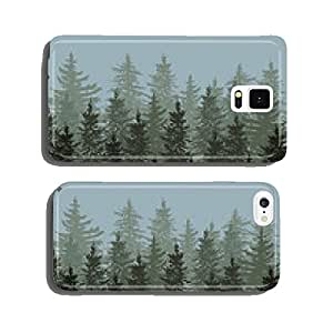 Silhouette of fir trees scape cell phone cover case Samsung S6