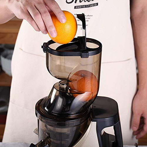 Slow Masticating Juicer Caynel Cold Press Extractor with 3'' Wide Chute for Fruits, Vegetables and Herbs, Quiet Durable Motor with Reverse Function, Smoothie Strainer Included, High Yield Vertical Juicer Easy Cleaning , BPA Free(Champagne) by CAYNEL (Image #5)