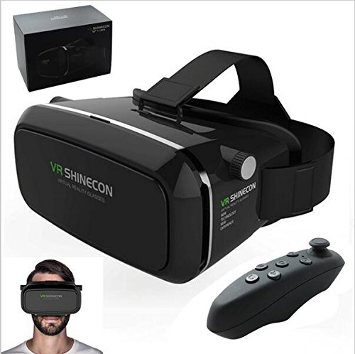 Globular 2016 Google Cardboard VR shinecon Pro Version VR Virtual Reality 3D Glasses +Smart Bluetooth Wireless Remote Control Gamepad