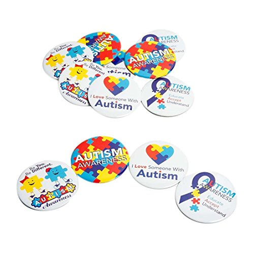 Autism Awareness Buttons - Made of metal approx 3""