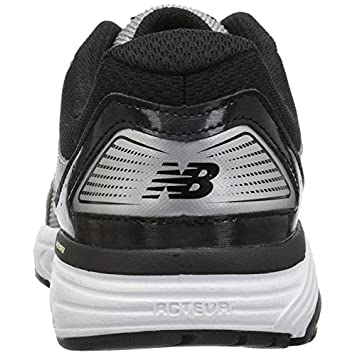 New Balance Men s 560v7 Cushioning Running Shoe, Silver Black, 13 4E US