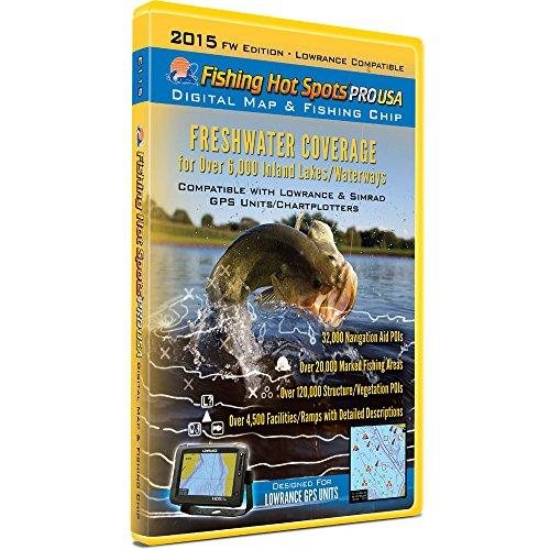 Fishing Hot Spots Pro Maps (Fishing Hot Spots E115 Pro USA Fishing Chip - Freshwater Inland Lakes Coverage 2015)