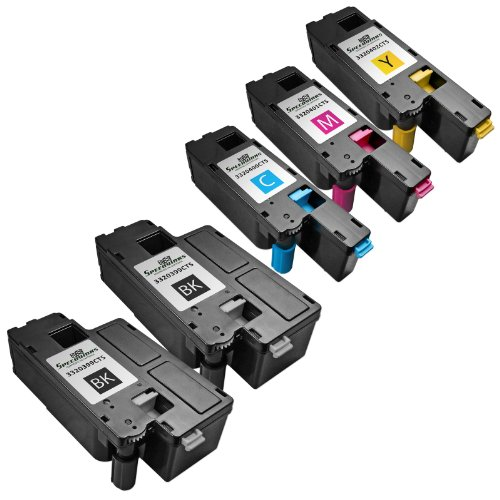 Speedy Inks - 5pk Compatible Dell C1660W C1660 Series toners 2x 332-0399 Black, and 1 of each 332-0400 Cyan, 332-0401 Magenta, 332-0402 Yellow
