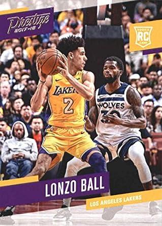Amazon Com 2017 18 Panini Prestige 152 Lonzo Ball Los Angeles