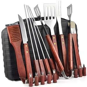 Al aire libre chinkyboo 18 piezas juego de utensilios de for Utensilios alta cocina
