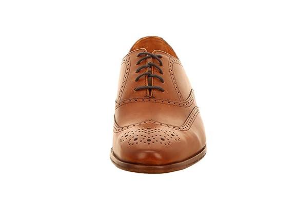 Van Lier - Zapatos de cordones para hombre, color marrón, talla 41.5