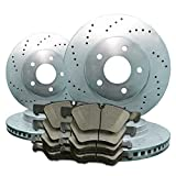 2008 08 2009 09 2010 10 2011 11 Ford F250 SD 2WD (Front+Rear Rotors + Ceramic Pads)-Silver Zinc Drill