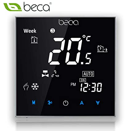 Fan Coil Thermostat,BECA 95~240VAC Four Pipe Heating/Cooling LCD Digital Touch