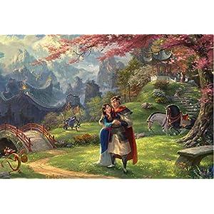 Ceaco Thomas Kinkade The Disney Collection Mulan Jigsaw Puzzle, 750 Pieces