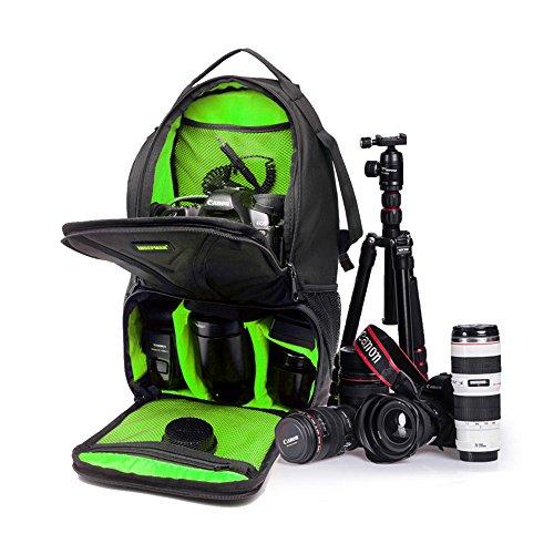 5 All Kameratasche für Spiegelreflexkameras Wasserdicht Groß (Grün)