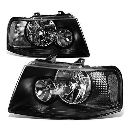 For Ford Expedition U222 Pair of OE Style Black Housing Clear Corner Headlight