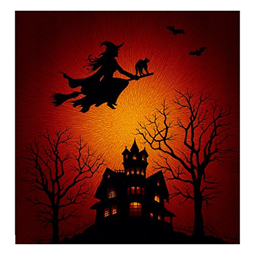 Hoffman Fabrics 0512571 Supernova Seasons Digital Halloween Silhouette 44in Panel Citrine