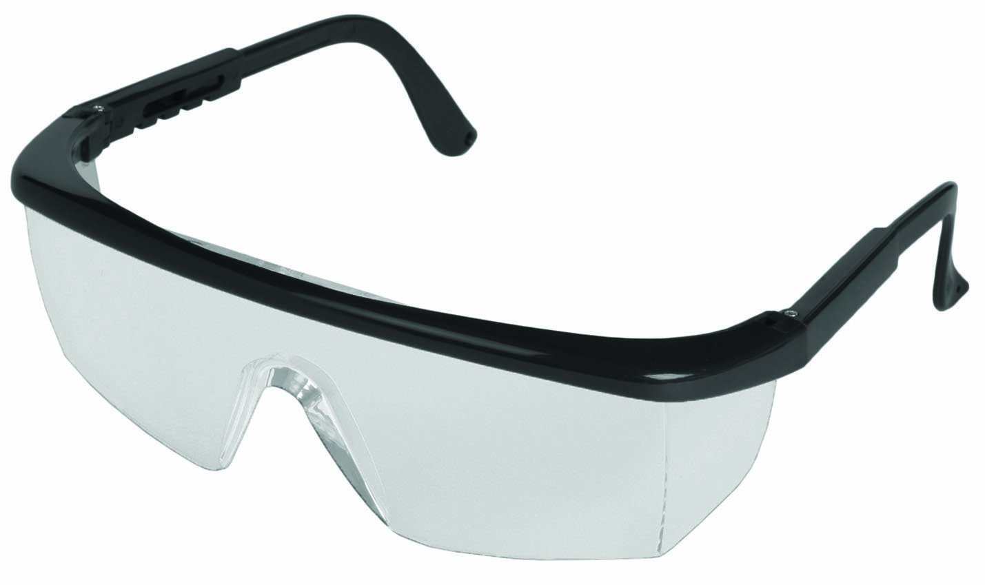 ERB 15200 Sting-Rays Safety Glasses, Black Frame with Clear Lens by ERB  B0056B26RS