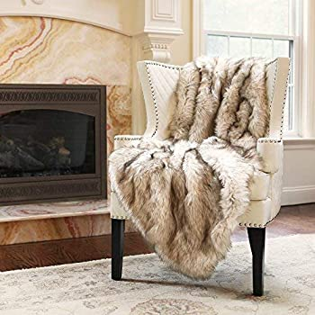 Luxury Plush Faux Fur Throw Blanket Soft Warm Fluffy for Bed Couch 54/'/'x 36/'/'