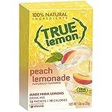 True Lemon Peach Lemonade Drink Mix, 0.106 Ounce - 10 per pack -- 12 packs per case.