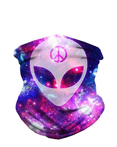 iHeartRaves We Rave in Peace Alien Seamless Mask Bandana for Dust, Raves,...