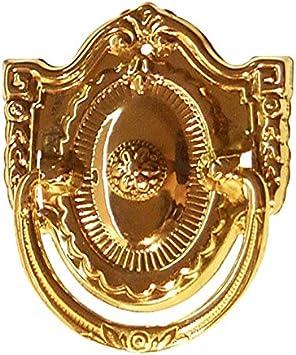 "Antique Vintage Shield Back Pressed Brass Drawer Pull 2 1//4"" x 2"""