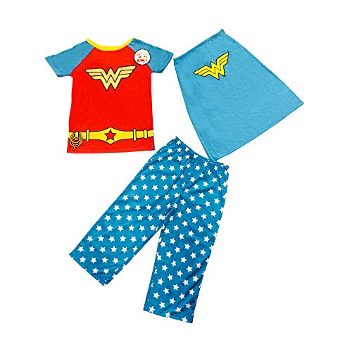 KomarKids Girls Character Pajama Set (Wonder Woman 3-Piece) (Size -