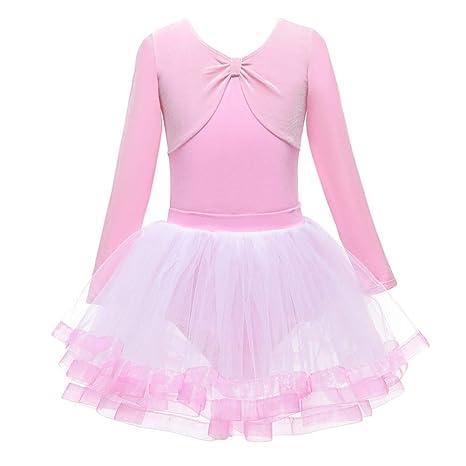 Wongfon Vestido de Ballet para niña Vestido de Baile Princesa ...