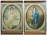 pinkie and blue boy - Antique Turner 1950s Blue Boy and Pinkie 3D Lithograph