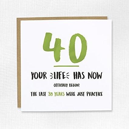 Feliz 40th Tarjeta de cumpleaños - Blank, cuarenta ...