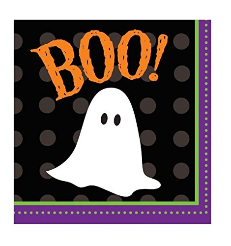 Halloween Party 2-Ply Napkins Frightful Friends Ghost Boo 18 (Scary Appetizers For Halloween)
