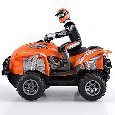 Chenzinan Four-Way Off-Road Remote Control Beach Motorcycle Toy Car Rechargeable for Boys and Girls for Children Over Three Years Old (Color : Red (Random Puppet Color)): Home & Kitchen