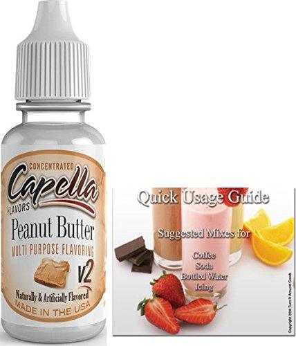 Peanut Drops (Capella Flavor Drops Concentrated & Quick Start Guide Bundle (Peanut Butter V2, 13ml))