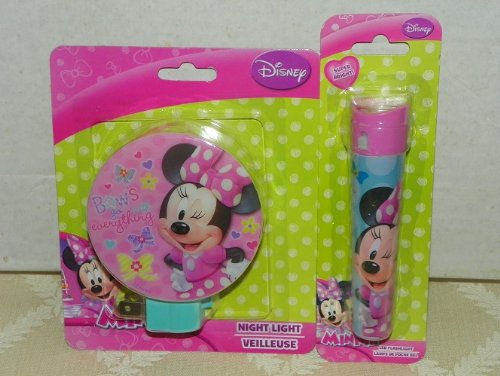 Minnie Mouse Night Light & Bedtime LED Flashlight Childs Set