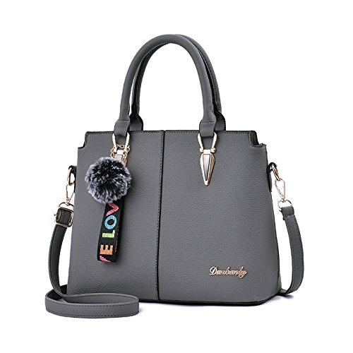 Coolives Leather Shoulder Bag Brand Handbags Bag Fashion Lady Gray Woman