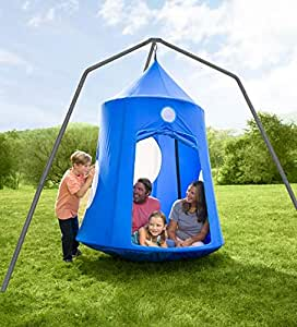 HearthSong® Nylon Family HugglePod Hangout and Family Hangout Stand Special - Blue