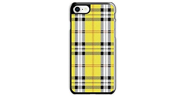 pretty nice 80dae f41ea Amazon.com: Yellow Plaid Emma Chamberlain iPhone Case (iPhone 7/8 ...