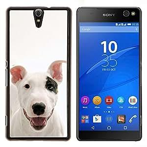 EJOOY---Cubierta de la caja de protección para la piel dura ** Sony Xperia C5 Ultra ** --American Pit Bull Terrier perro canino Mascota