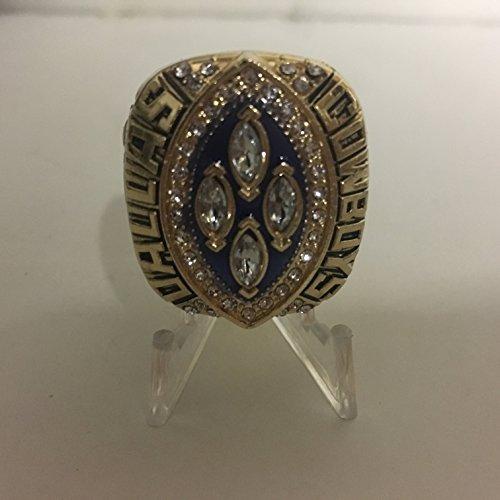 1993 Michael Irvin Dallas Cowboys High Quality Replica Super Bowl XXVIII Ring Size 11-Gold/Blue, Colored League Logo