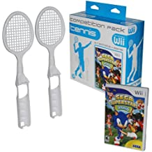 Sega Super Star Tennis and 2 Wii Rackets