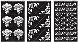 Rub 'N' Etch Designer Stencils 5x8 3/Pkg-Grape Designs
