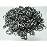 """3/8"""" Galvanized Hog Rings for cages, traps, fencing, sausage casings, upholstery and dozens more uses around the farm & home (500 count bag-3/4LB)"""