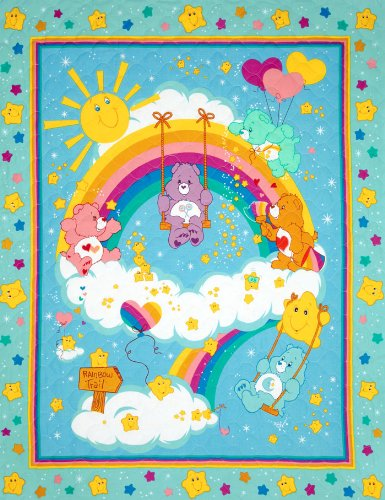 44'' Wide Care Bears Double-Sided Quilted Panel Fabric By The (Care Bears Quilt Squares)