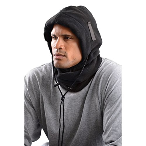 Stay Warm - 3-in-1 Fleece Balaclava - Where it 3 Different ways! - BLACK-24-PACK by Haynesville