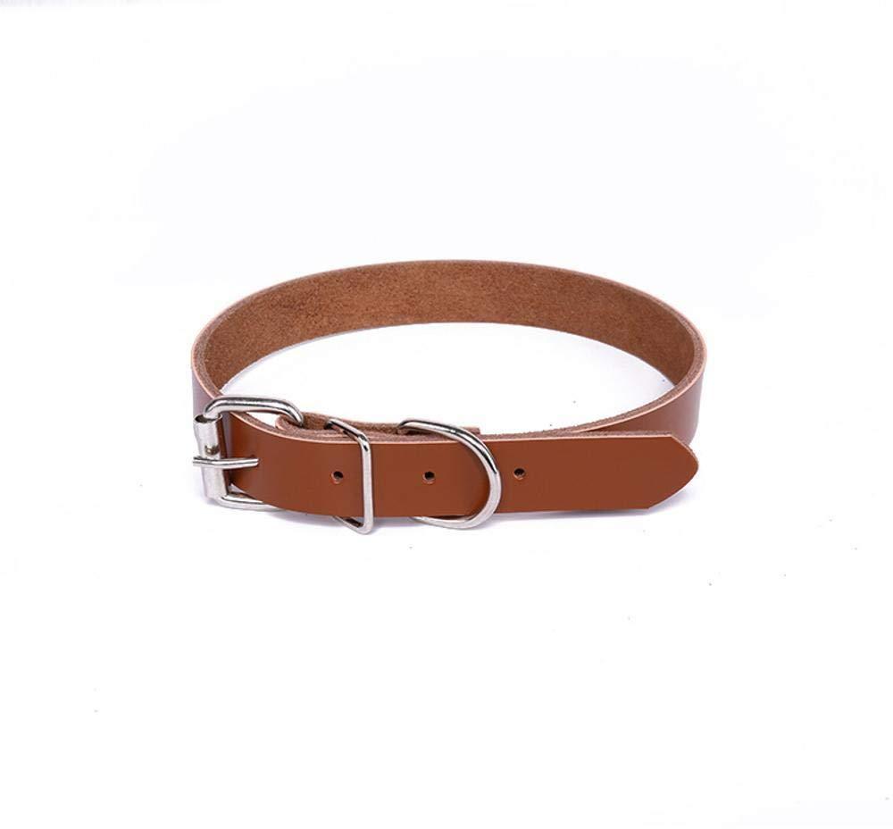 C 1.537cmDixinla Pet collar Leather Dog neck Ring Pet Supplies