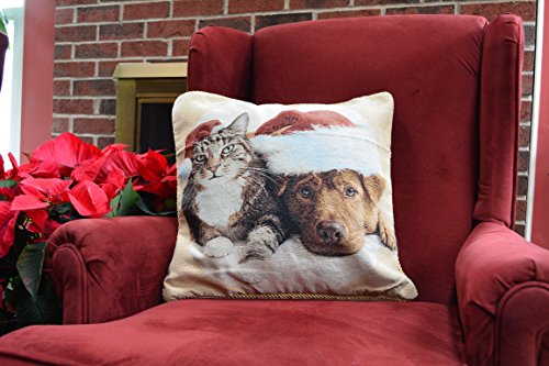 Tache 2 Piece Best Friend Christmas Tapestry Cushion Throw Pillow Cover - Friends Pillows Tapestry