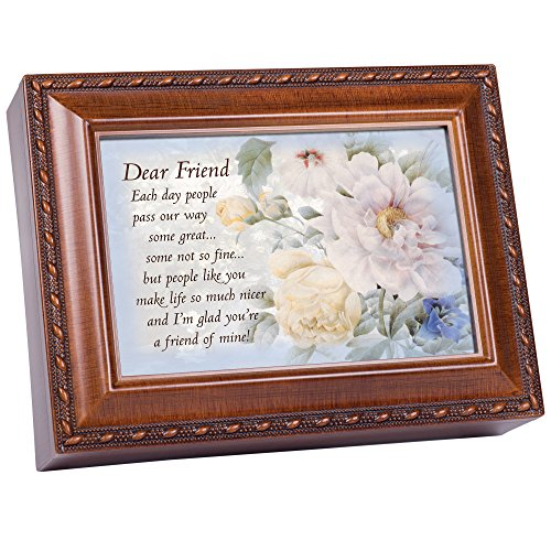 Cottage Garden Dear Friend Woodgrain Music Box Plays Friends are for